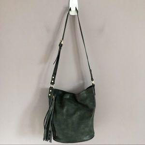 Handbags - Black Adjustable Tassel Bucket Bag